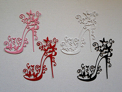 Shoes High Heel Lacy Die Cuts x 8 Scrapbooking Cardmaking Embellishment