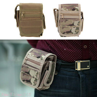 Outdoor Military Tactical Waist Pack Bag Molle Phone Camping Hiking Pouch Bag