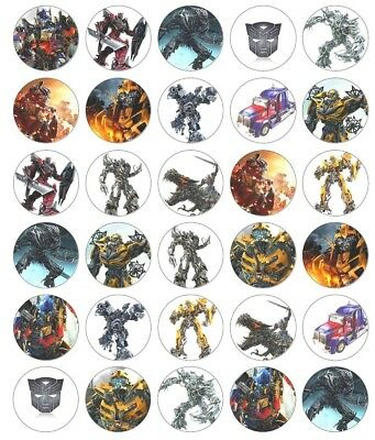 30 x Transformers Edible Wafer Cupcake Toppers