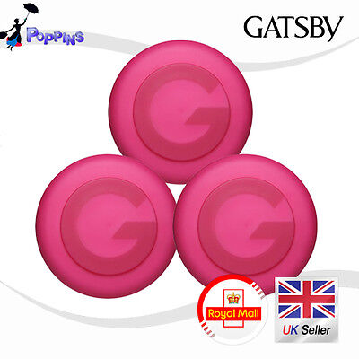 New 3 Gatsby Moving Rubber Spiky Edge Hair Wax   80g X 3 ( Total 240g )