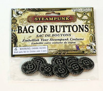 SteamPunk Cosplay Victorian Style Industrial Bag of 8 Buttons, NEW SEALED