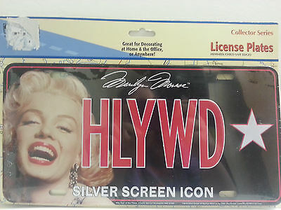 Marilyn Monroe Decorative License Plate Hollywood Blonde Bombshell Sign