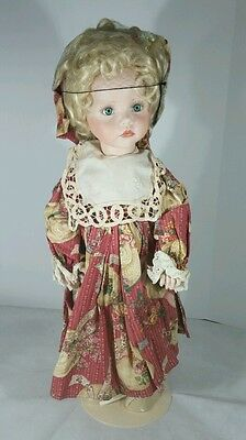The Doll Maker Nickolette?? Doll 24 inches Signed by Linda Rick # 41/500
