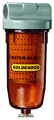 Goldenrod Water Block Spin-On Fuel Filter, 4 in Dia x 9-1/2 in L x 4-5/16 in W,