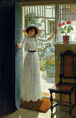 Margetson William Henry Cottage Door Artist Painting Oil Canvas Repro Art Deco