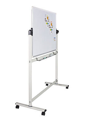 Whiteboard Magnetic Mobile Double Sided  swivel revolving WhiteBoard Office Home