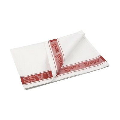 Vogue Red Glass Cloth Cleaning Polishes Linen Tea Towels Kitchen Catering