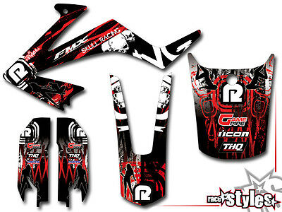 HONDA FMX 650 2005 2006 2007 STREET DECAL KIT SKULL Ltd. DEKOR STICKER AUFkleber