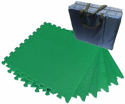 AWNING EVA FLOOR TILE MAT STORAG BAG complete with 12 GREEN TILES and all edges