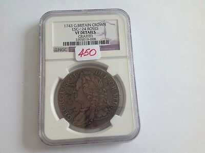 1743 Great Britain Crown NGC Holder