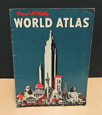 Vintage Rand McNally World Atlas 1942 Edition 16 pages + Cover