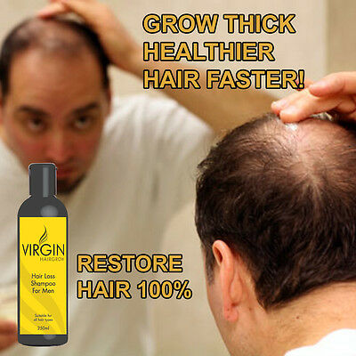 Virgin Hair Grow Mens Shampoo Hair Loss Treatment For Pattern Baldness