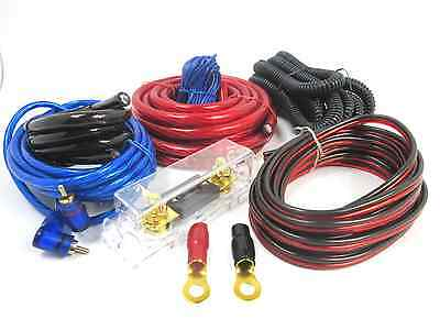 3500W Real 4 Gauge Amp Install Wiring kit 4 AWG Amplifier Installation cable red