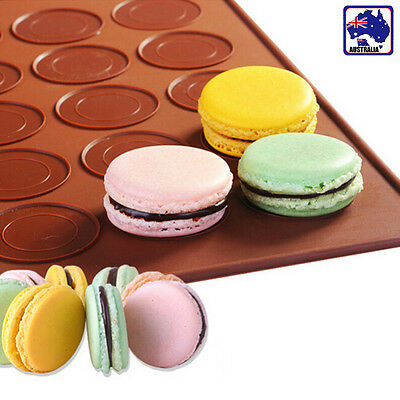 48 Holes Macaron Cookie Silicone Mat Tray Macarons Handmade Supplies HKIMO4855