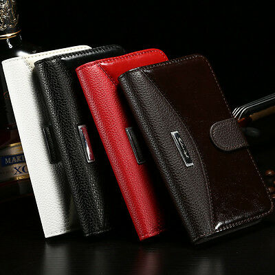 Luxury Leather Flip Wallet Fold Card Case Cover for Samsung Galaxy S6