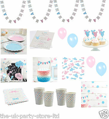 LITTLE LADY or MINI MISTER Baby Shower Gender Reveal Party Decorations Table