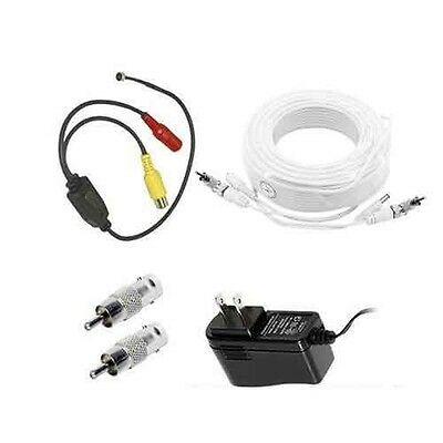 Samsung Security System Microphone Kit 100ft length compatible w/SDE,SDS, SDH