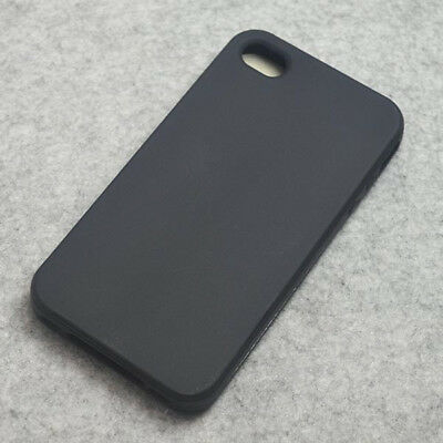 New Black Silicone Case back cover for iphone 4 4s