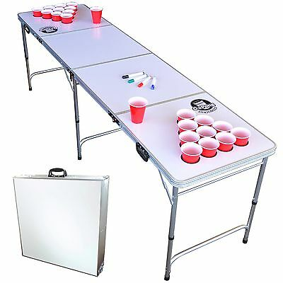GoPong 8FT Foldable Beer Pong Table - Customizable Dry Erase Whiteboard Surface