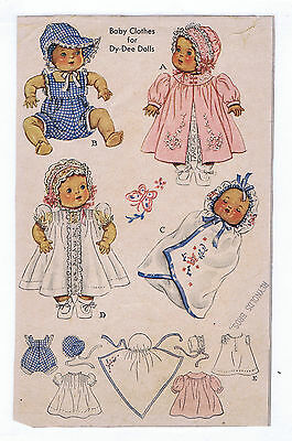 "632 Vintage Chubby Baby Doll Pattern - Size 20"" -- Year 1949"