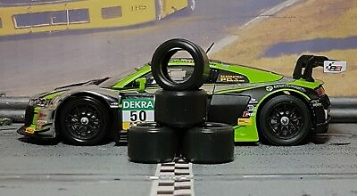 1/32 PAUL GAGE SLOT CAR TIRES 2pr PGT-20125LMXD fit CARRERA Audi R8 LMS