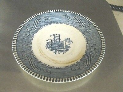 "Currier And Ives Royal China 6 1/4"" Saucers. Set Of 8"