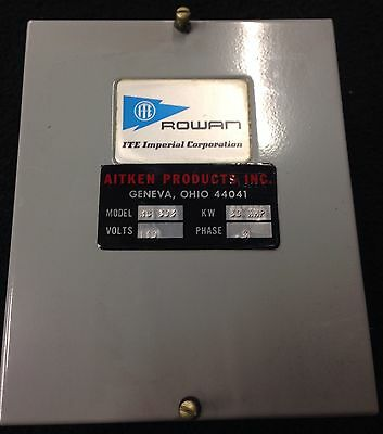 Rowan 30 amp 3 phase contactor 30A  RC303 Aitken Products ITE 120v Coil Lighting