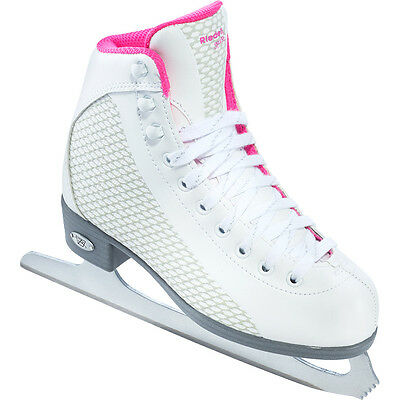 Riedell 13 Sparkle Girls Figure Skates With GR4 Blade (White/Pink)