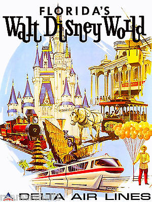 Orlando Florida Disney United States of America Travel Advertisement Poster