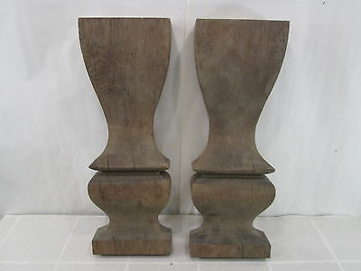 2 Vintage Architectural Salvage Wooden Pillars