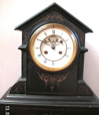 Victorian Marti French Marble Visible Movement Striking Mantle Clock