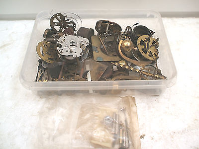 Tray Containing Various Clock Fittings & Other Parts For Spares