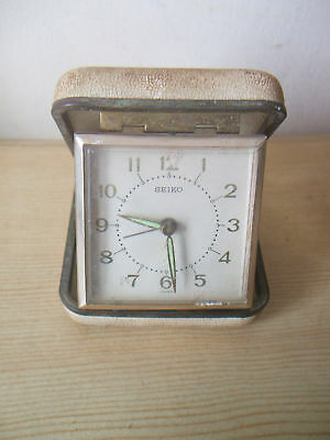 "Seiko Winding Movement Travelling Alarm Clock 3""L"