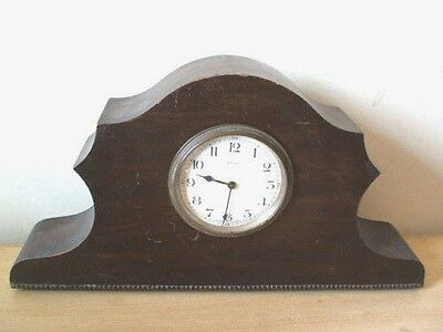 "Mahogany Case Mantle Clock For Spares/Repair 15""W"