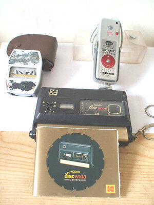 Kodax Disc 8000 Camera With Arrow Capless Type Flash Device & Range/Light Meter