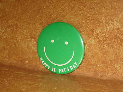 Happy St. Pat's Day Green Button Badge Pin Saint Patricks Day Lucky Irish Accent