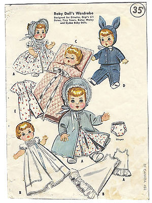 "2183 Vintage Baby Doll Pattern - Size 13""-14"" - Year 1957"