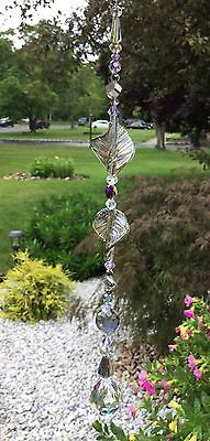 Healing Purple Suncatcher/Prism W/Swarovski Element Feng Shui Crystal Ball USA