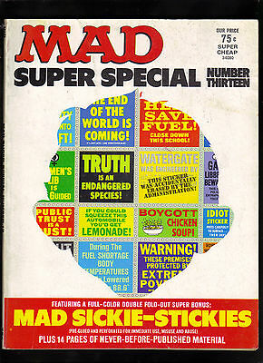 Mad Magazine Super Special #13 Vg/f   (Mad Sickie Stickers Attached) Ec