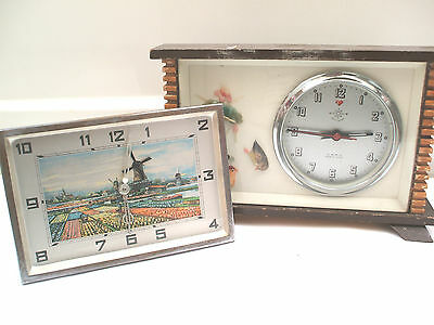 Helm Brand Winding Movement  Mantle Clock with metal framed clock