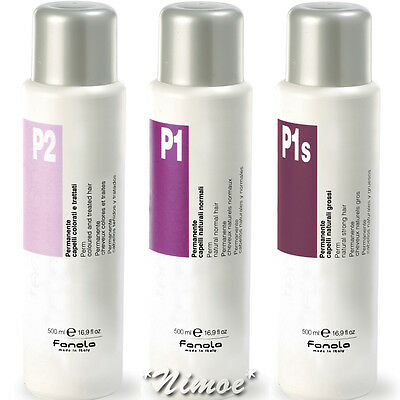 Perm Fanola ® P2 P1 P1s 500ml Coloured Hair / Natural Normal / Strong Permanente