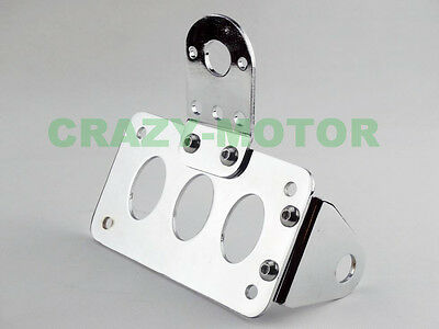 Motorcycle Chrome Metal License Plate Bracket Side Mount Parts For Rear Axle New