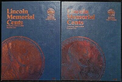 Whitman Lincoln Memorial Cents #1 & 2 1959-2008 Coin Folders, Albums Books