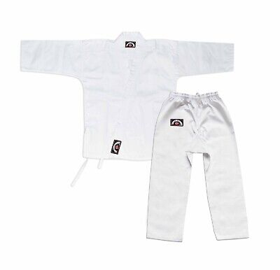 Karate Gi 6oz White Student Karate Uniform With White Belt