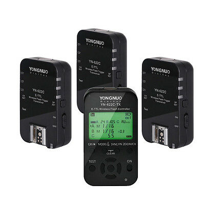 Yongnuo YN-622C-TX + 3pcs YN622C E-TTL Wireless Flash Trigger 1/8000 for Canon