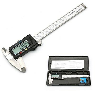 "6"" inch 150mm Digital LCD Stainless Vernier Caliper Gauge Micrometer Electronic"