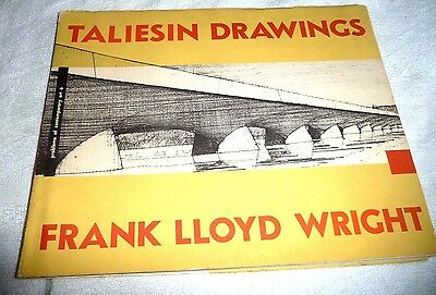 Architectural Architect Frank Lloyd Wright Taliesin Drawings 1952 First