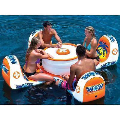 WOW island table inflatable float lounge water-ski pool river