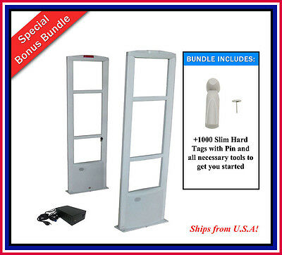 COMBO-D / 1000 Tag Bundle + EAS RF Checkpoint Compatible Security Antenna System