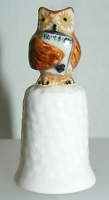 Klima Porcelain Owl on Thimble Holding Book K414